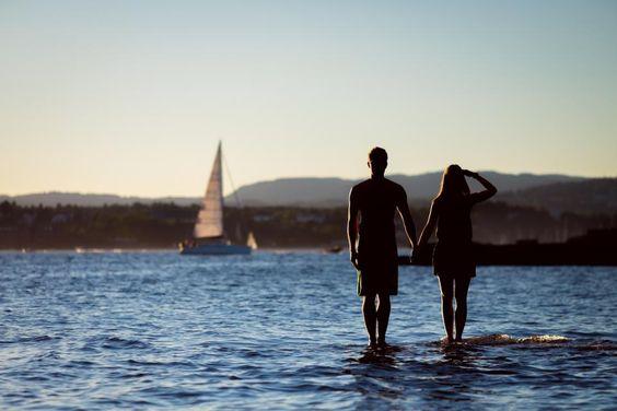 ocean, sea, lake, water, sailboat, guy, man, girl, woman, couple, love, romance, people, silhouette, shadow, summer, landscape