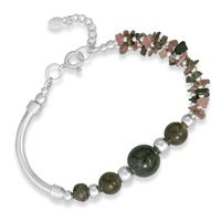 Tourmaline chips in blushing pinks and earthy greens.
