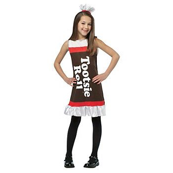 Tootsie Roll Ruffle Dress Costume - Kids