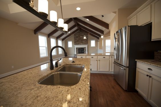 The kitchen inside the larson ranch plan by steiner homes Kitchen remodeling valparaiso indiana