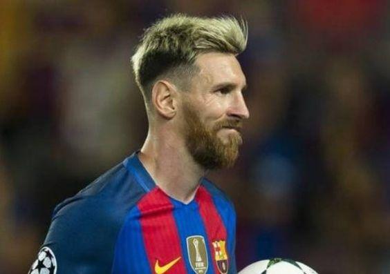 Messi mit neuest aktuelle Undercut Haar Frisur-2016