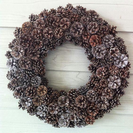 Monday Musings - Pinecone Wreaths  Allnatural