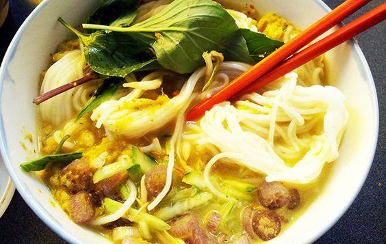 Món ăn Nom Banh Chok - sự tinh túy từ hạt gạo