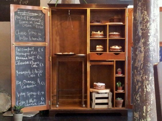 The infamous cake cupboard at Lovecrumbs - Edinburgh