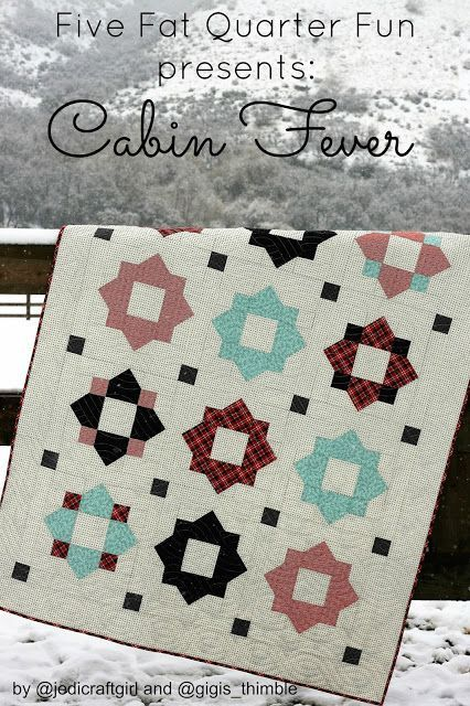 Free printable quilt pattern --- A Little Bit Biased: five fat quarter fun: