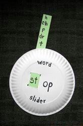 Word Ending Slider- great for blends, digraphs, etc.