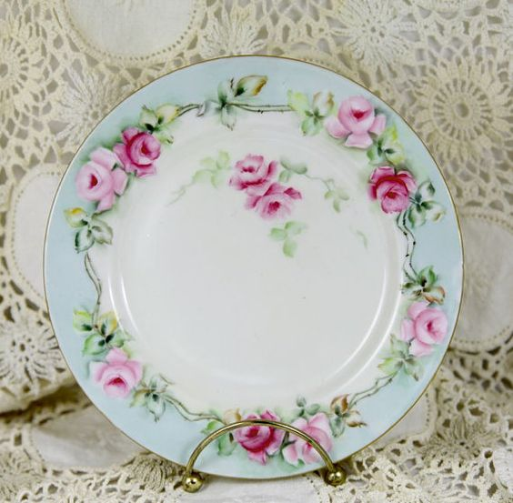 Limoges Plate from France Hand Painted and Signed