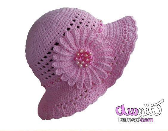 قبعات كروشيه بالباترون للكبار اشكال طواقي كروشيه حريمي طواقي كروشيه للصبايا بالصور Crochet Bun Hat Crochet Pattern Crochet Baby Hats