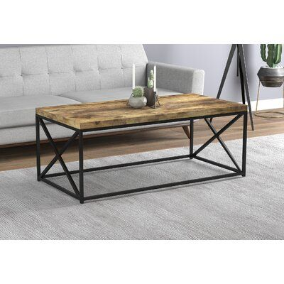 17 Stories Knapp Coffee Table With Tray Top Table Top Colour
