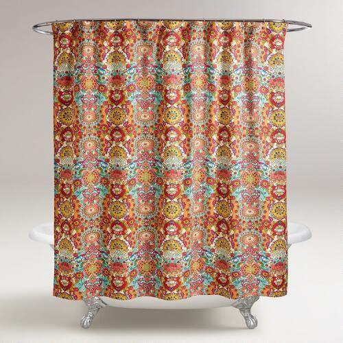 bettina floral shower curtain world