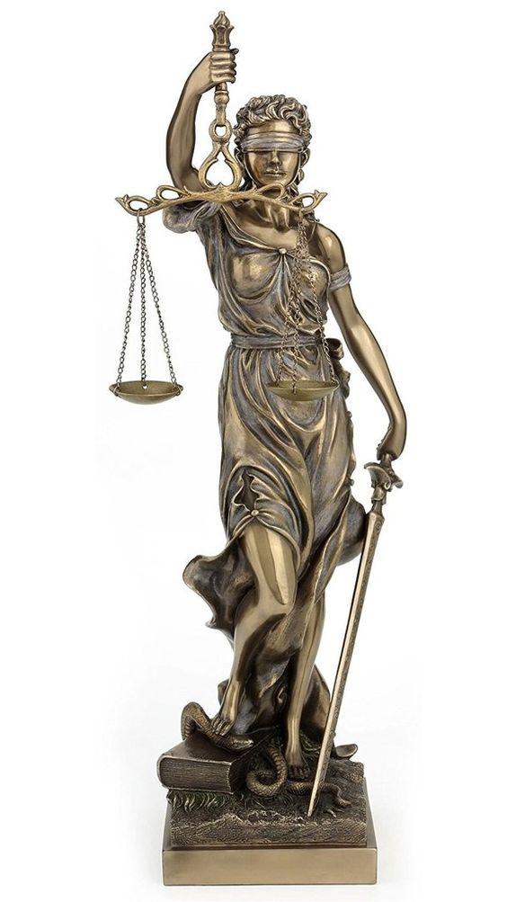 Large Themis Blind Lady Justice Statue 18""