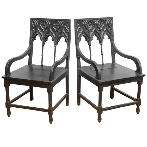Spanish Gothic Armchairs 1stdibs Com Gothic Chair Antique Chairs Chair