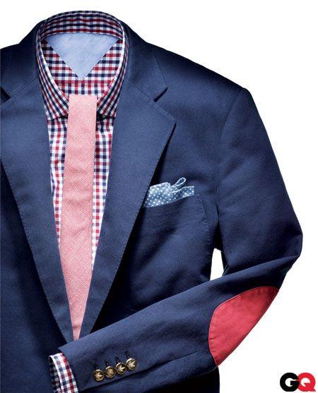 : Men S Style, Fashion Men, Mens Style, Blue Suits, Men S Fashion, Mensfashion, Red White, Blue Blazer Men
