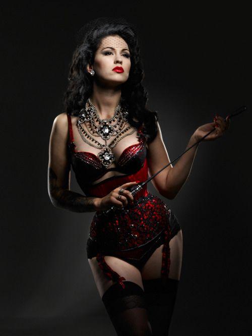 Sexy Red & Black Bra Corset Lingerie