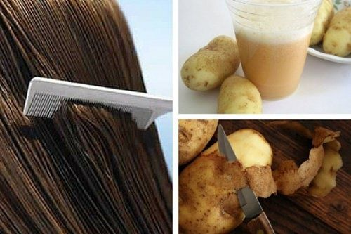 Saviez-vous que l'eau de peau de pomme de terre pouvait renforcer vos cheveux ? Le remède à la peau de pomme de terre renforce et nourrit les cheveux. Etant donné qu'il a tendance à l'assombrir, il n'est pas conseillé pour les personnes qui ont les cheveux blonds.