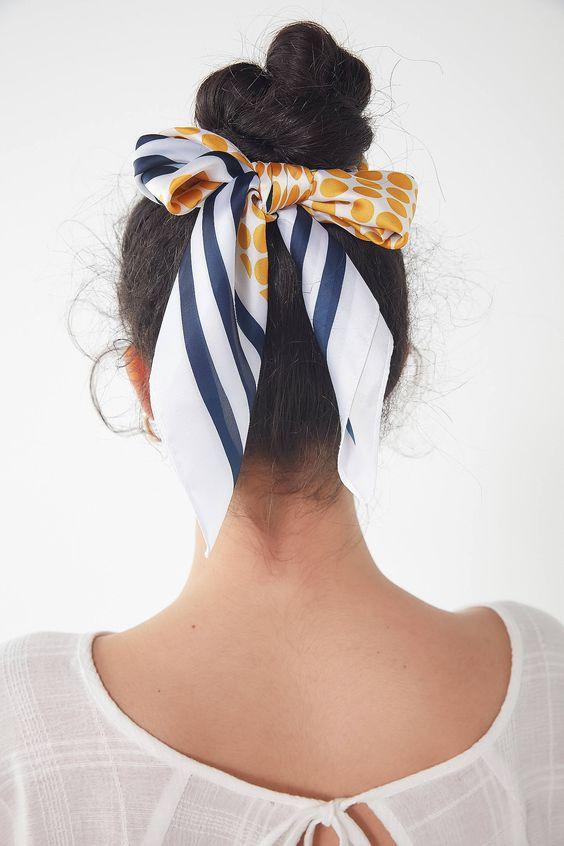 fularla saç modelleri