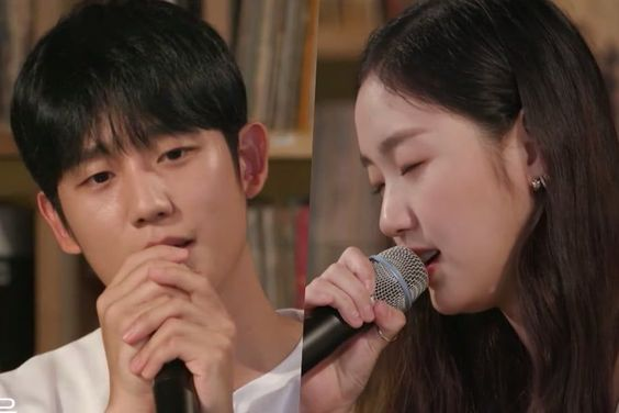 "Watch: Jung Hae In Shows Off Singing Skills + Kim Go Eun Covers Lee Hi's ""Breathe"""