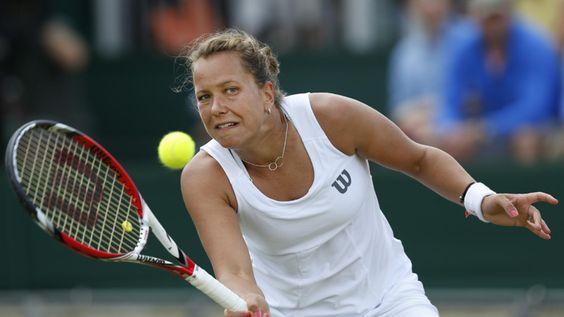 6/30/14 Barbora Into 1st QFs At The Championships, Wimbledon. Barbora Zahlavova Strycova upset #16-Seed Caroline Wozniacki 6-2, 7-5.