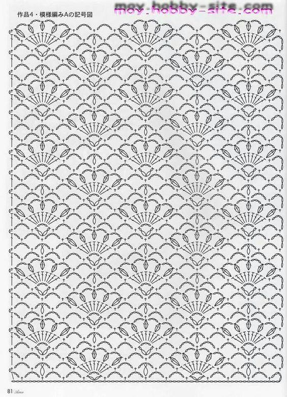 Crochet Stitches Diagrams Pinterest : crochet stitch chart pattern viele ideen schultertuch und mehr crochet ...