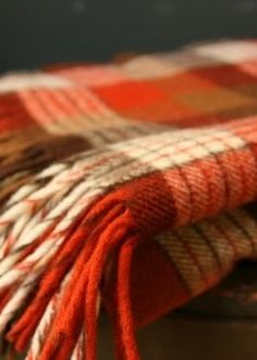Autumn Blanket in shades of orange, cream and brown -- luscious!