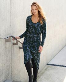 Product Image of Wool viscose drape detail dress
