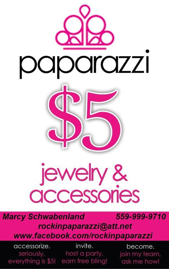 Paparazzi Jewelry Business Card Template | Find A Party Consultant - Paparazzi