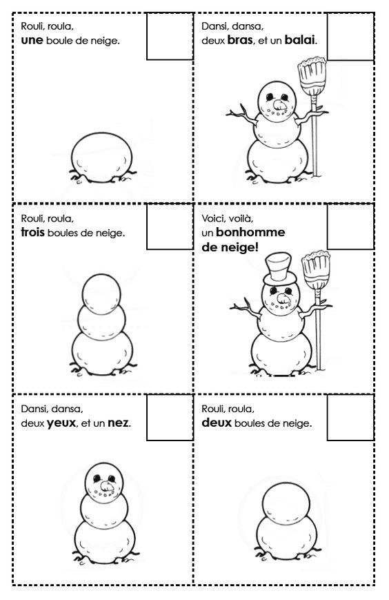 Images su00e9quentielles bonhomme de neige : u00e9cole : Pinterest ...