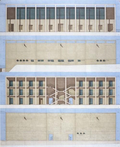 cute stairs Giorgio Grassi - Casa dello studente, Chieti - TÉCHNE