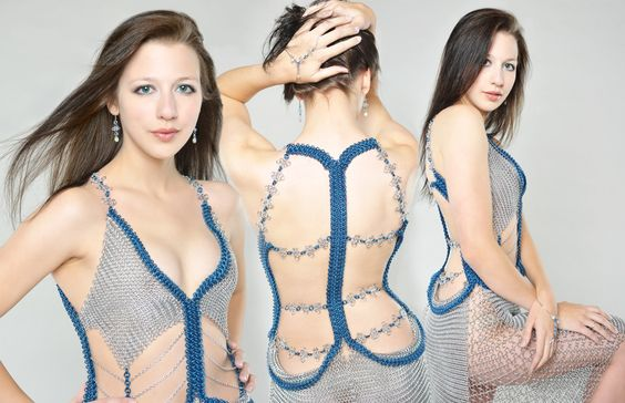 Shadow Oak Maille I chainmail fashion jewelry | dresses