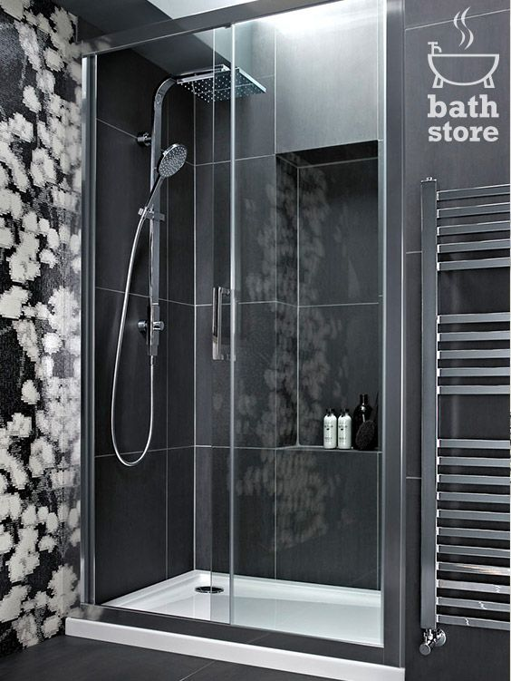 Atlas 1100mm Shower Enclosure Sliding Door Bathstore Shower Doors Sliding Shower Door Shower Enclosure