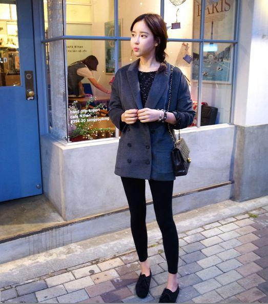 korean street style 喜歡~~  簡單又好看