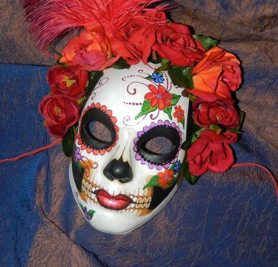 Dia De Los Muertos Wedding Theme Ideas: Day Of The Dead Wedding Mask Set Dia De Los Muertos