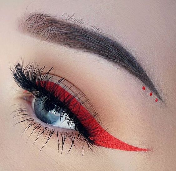 Liquid lipstick as eyeliner