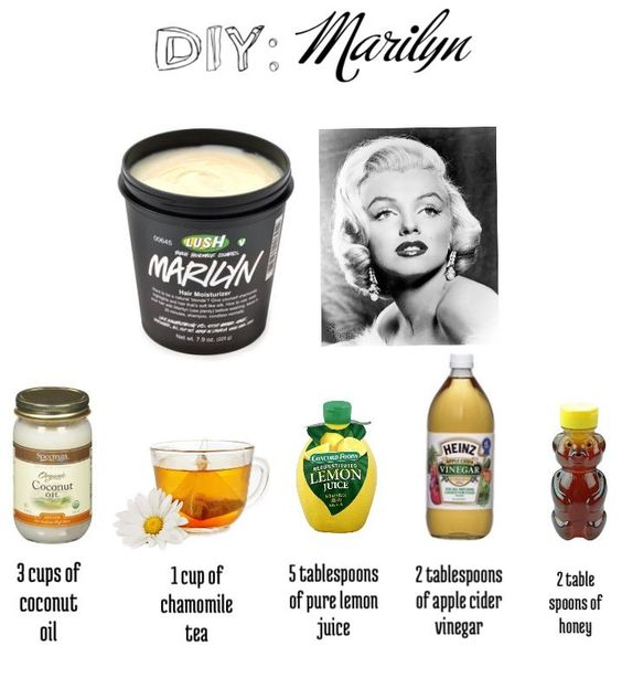 ['Marilyn' hair treatment for blondes DIY. Excited about this one as well.]