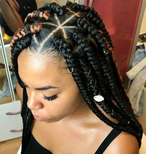 Simple Braided Hairstyles For Black Women Braidedhairstylesforblackwomen Hair Styles Braided Hairstyles Braided Hairstyles Easy