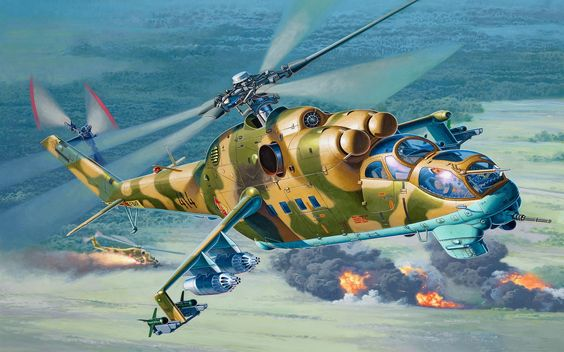 Russian Hind Helicopter gunship:
