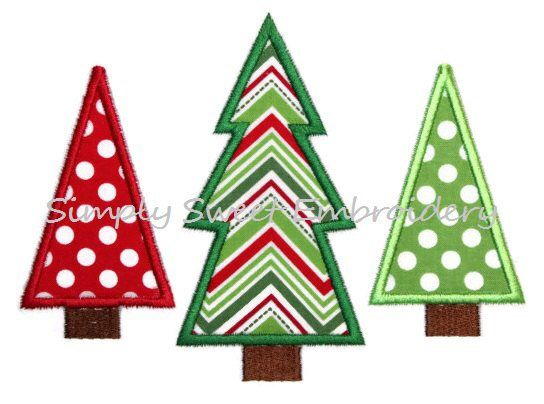 Christmas Tree Trio Machine Embroidery Applique Design By Simpysweetembroidery On Ets Christmas Applique Machine Embroidery Embroidery Machine Applique Designs