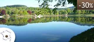 Auvergne : chalets nature sur lac