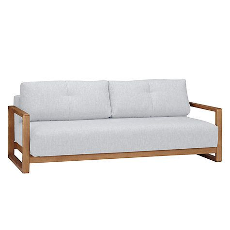Buy John Lewis Mercer Sofa Bed Stanton Putty Online at johnlewis