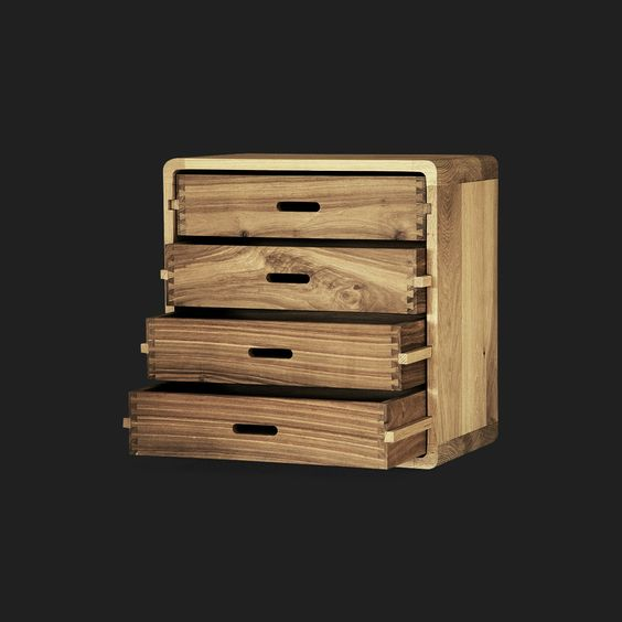 Four Drawer Bedside Table