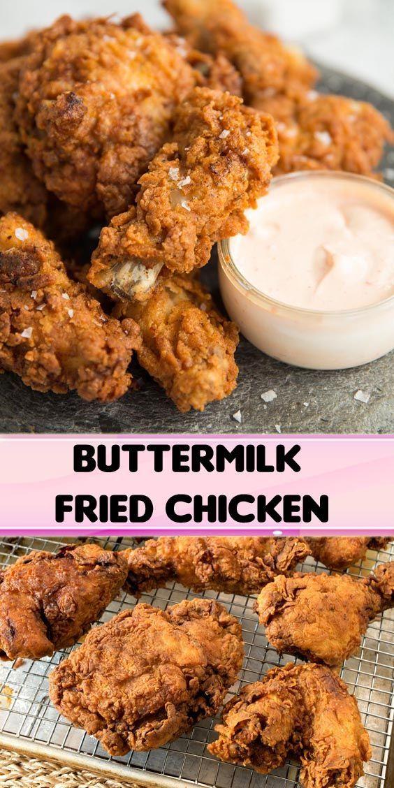 Buttermilk Fried Chicken Buttermilk Chicken Fried In 2020 Fried Chicken Recipes Chicken Wing Recipes Chicken Entrees
