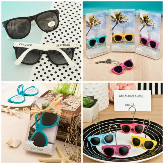 Sunglasses and Sunglasses Design Party Favors for Summer Party from HotRef