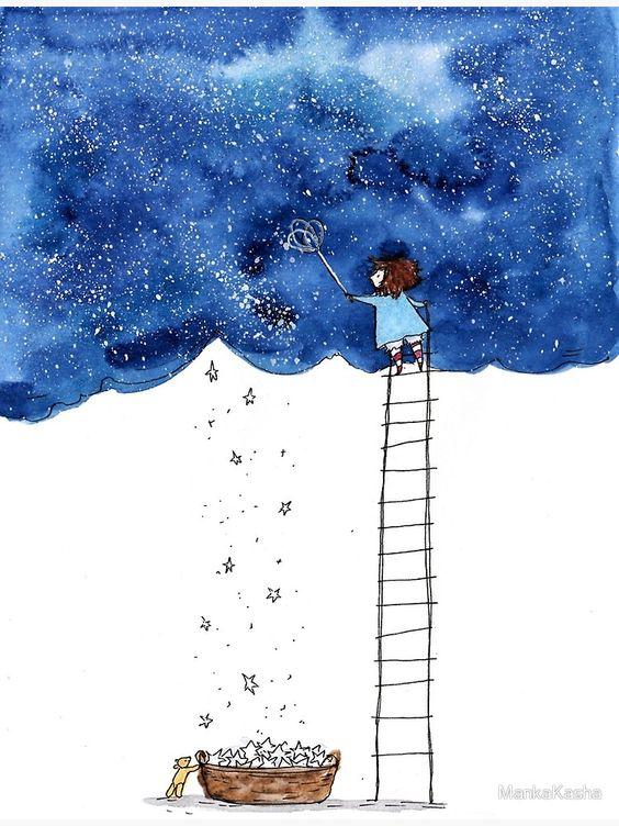 Impression photo «Allons chercher des étoiles», par MankaKasha | Redbubble
