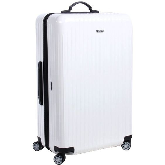 Rimowa Salsa Air - 29 Multiwheel (Carrara White) Pullman Luggage ($550) ❤ liked on Polyvore featuring bags and luggage