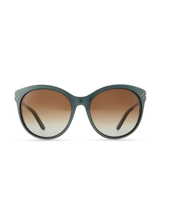 Boxwood Cat-Eye Sunglasses, Green