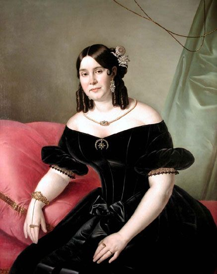 Amalia Tonello Cappalletti by Giuseppe Tominz, 1840 circa #portrait #19thcentury #painting #1800 #art Carefully selected by GORGONIA www.gorgonia.it: