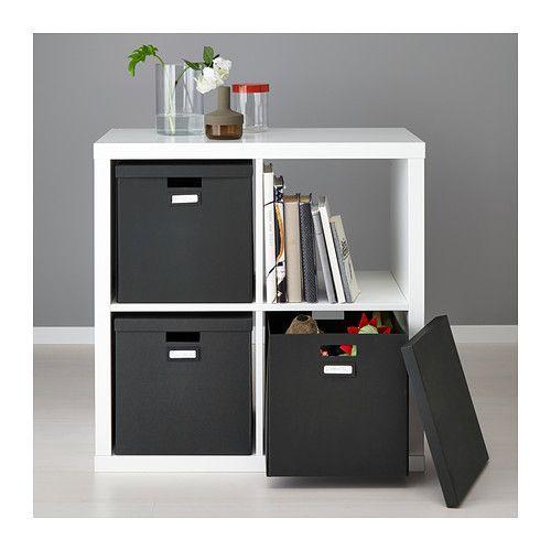 TJENA Kasten mit Deckel - schwarz - IKEA
