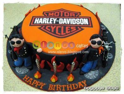 Harley Davidson Theme Birthday Cake