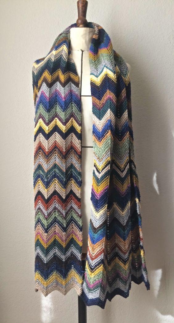Knit Kit: Garn und Wollreste verwerten in einem Chevron Scha...