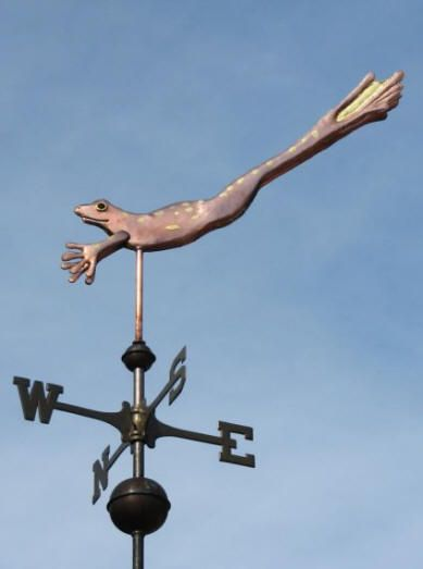 Leopard Frog Weather Vane, Leaping by West Coast Weather Vanes. This unique…